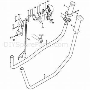 Stihl Fs 240 Brushcutter  Fs240ce  Parts Diagram  Bike Handle