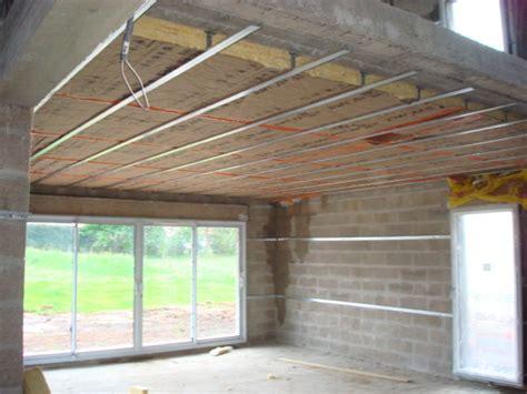 chambre froide construction isolation du plafond sous un plancher eveno isolation
