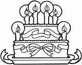 Birthday Cake Coloring Ribbons Printable Happy Categories sketch template