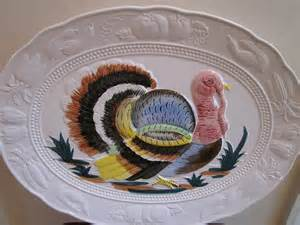 vintage turkey platter made in japan