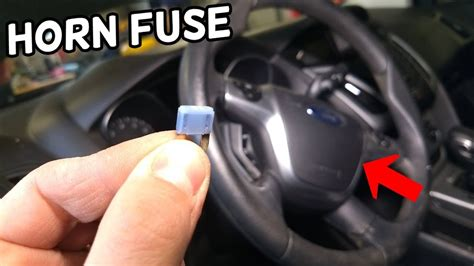 horn fuse location  replacement ford focus mk