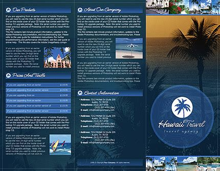 Brochure Template Photoshop by Brochure Zafira Pics Brochure Template Photoshop