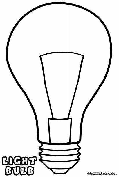 Lightbulb Bulb Coloring Template Pages Drawing Bulbs