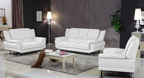White Sofa Sets by Modern Leather Sofa Set White Matisseco