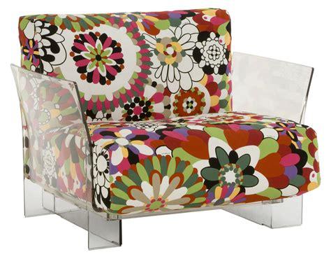 fauteuil rembourr 233 pop missoni fleurs tons rouges kartell