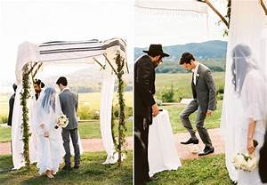 outdoor-jewish-wedding-chuppah - Once Wed