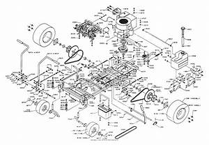 Dixon Ztr 361  1992  Parts Diagram For Chassis Assembly