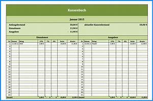 Mehrwertsteuer In Excel Berechnen : kassenbuch vorlage zum ausdrucken business template ~ Themetempest.com Abrechnung