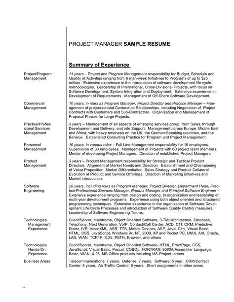 summary  resume examples examples resume