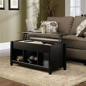 Topcobe, Lift, Top, Coffee, Table, Solid, Wood, Coffee, Table, With, Storage, Shelves, Storage, Coffee