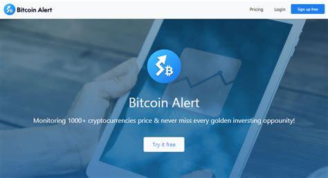 monitor bitcoin price   alerts