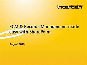 ECM & Records Management with SharePoint