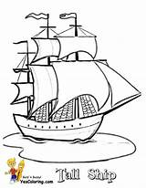 Coloring Pages Tall Ships Ship Sailing Drawing Boats Printable Pirate Boat Sheets Yescoloring Colouring Drawings Sky Template Shipwreck Paul Short sketch template