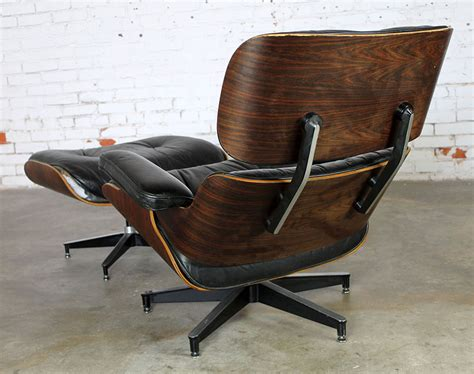 sold vintage eames lounge chair ottoman in black