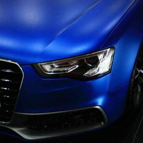 car wrapping folie 3d chrom matt blue metallic mit luftkan 228 len car