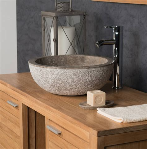 polished grey stone sink  hammered outer finish