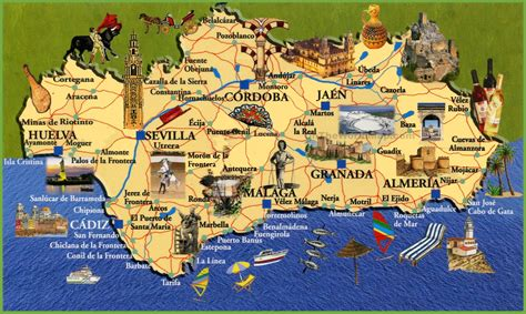 andalusia travel map