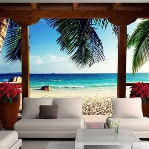 Poster Mural 3d : fototapeta 3d do salonu z widokiem na morze ~ Teatrodelosmanantiales.com Idées de Décoration