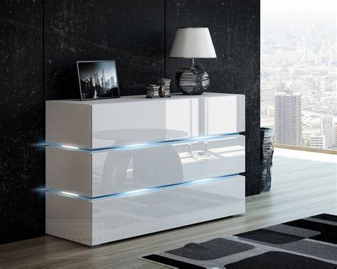 kaufexpert kommode shine sideboard  cm weiss hochglanz