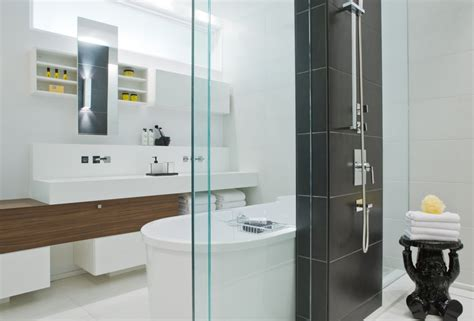Modern Bathroom Sinks Toronto by Shower Bathroom Sinks Contemporary Townhome In