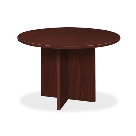 table ls with outlets in base basyx by hon blc48dnn bl round conference tables with x