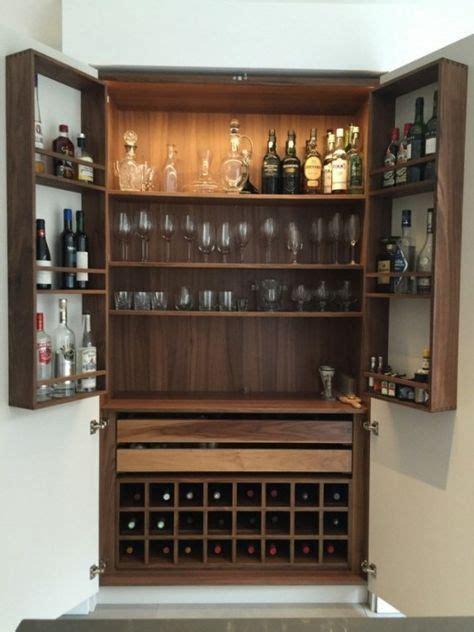 Home Bar Cupboard by Neil Norton Design Solid Walnut Bespoke Drinks Cabinet