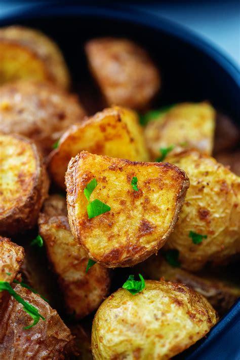 potatoes air fryer roasted airfried garlic butter