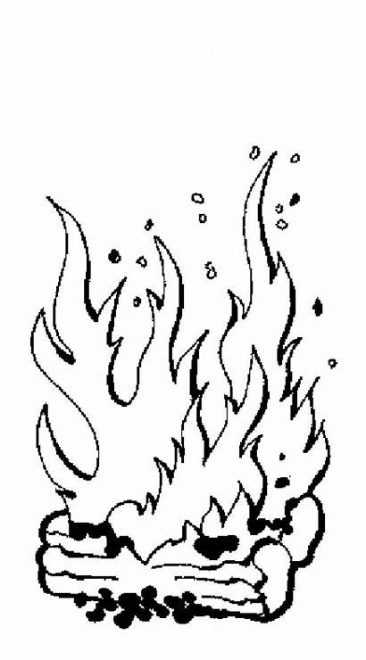 Coloring Fire Pages Flames Printable Flame Forest