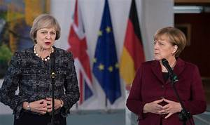 What is Merkel trying to tell May as she uses 'Merkel ...