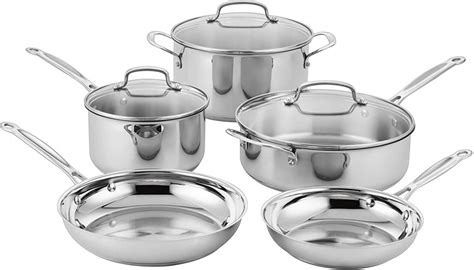 amazon lowest price cuisinart classic stainless steel cookware set  piece