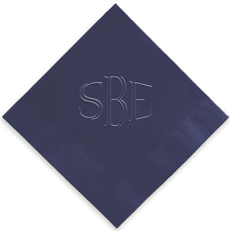eminent monogram napkin embossed embossed personalized monogram napkins giftsincom