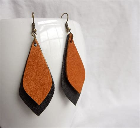 Raven's Call // Leather Earrings // Boho Earrings