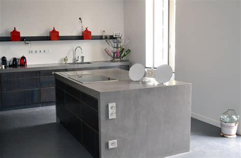 bton cir sur carrelage plan de travail cuisine plan de travail cuisine en beton cire phenomenal