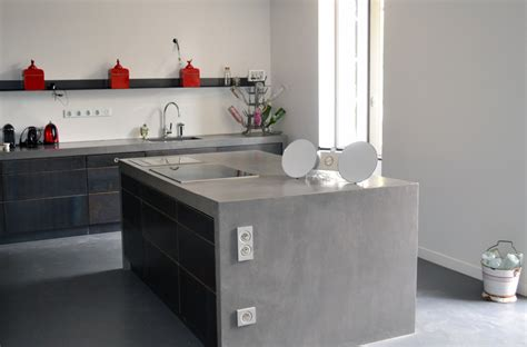 cuisine en béton ciré beton cire pour credence cuisine maison design bahbe com