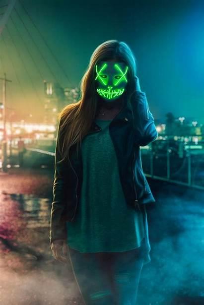 Mask Neon Iphone Wallpapers Fondos 4k Smoke