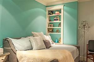 Tiffany Blue Paint Kids Modern With Accent Wall Bedroom
