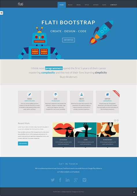 flat design web site design de site internet