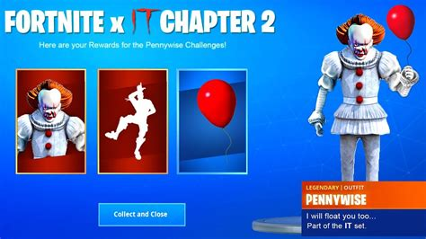 items  fortnite pennywise skin