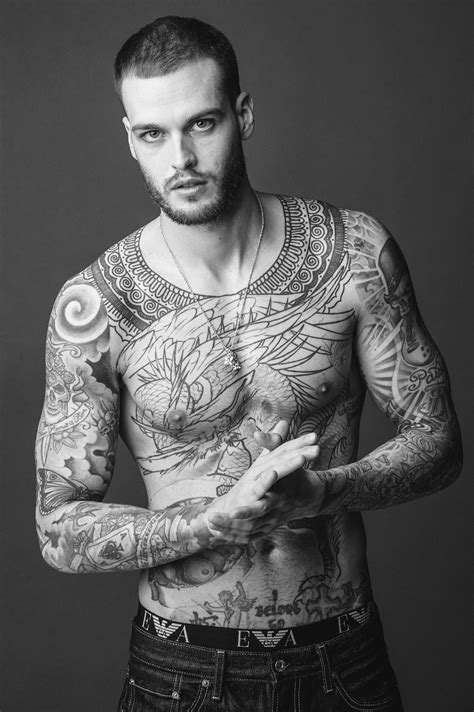 15 Male Models Reveal the Stories Behind Their Tattoos | GQ