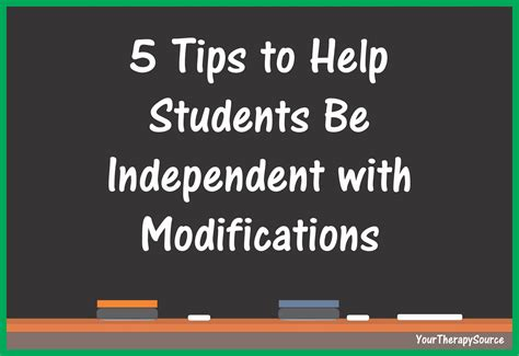 5 Tips To Help Students Be Independent With Modifications