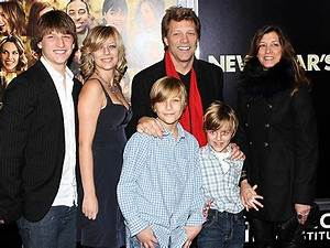 Family Photo Jon Bon Jovi Rocks Out Moms Babies