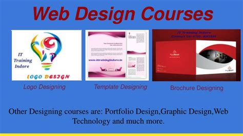 web design courses ppt web design courses in indore powerpoint