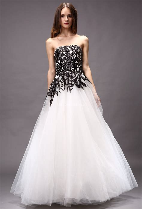 robe de mariage noir et blanche robe de mari 233 e blanche et noir princesse