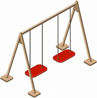 Swing Clip Wooden Double Clipart Outdoor Transparent