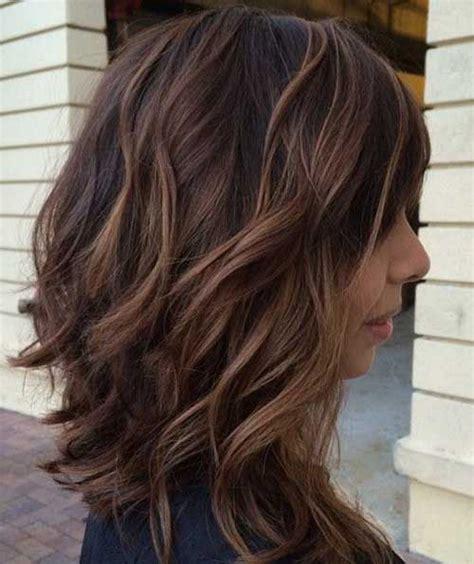 long choppy brown bob  highlights hair world magazine