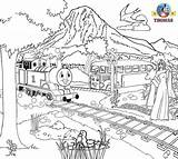 Thomas Coloring Colouring Friends Train Printable Games Engine Tank Paint Bus Cartoon Printables 2009 Toys Sodor Library Clipart Popular Akpwehkg sketch template