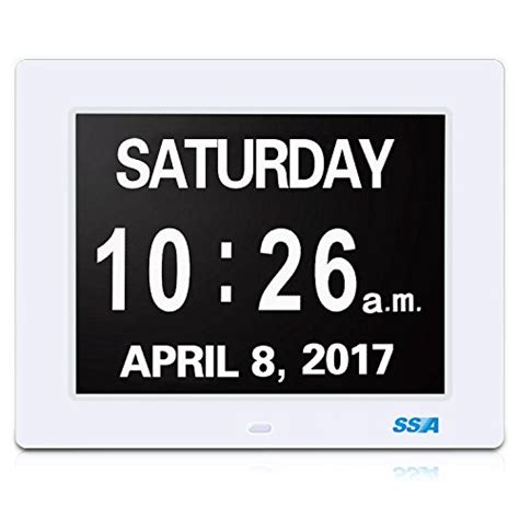 ssa digital calendar day clock large clear time day import