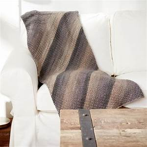Caron U00ae Big Cakes U2122 Shake It Up Knit Blanket In Peppercream