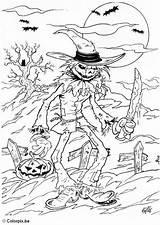 Coloring Ogre Halloween Creep Kleurplaat Griezel Colouring Sheets Adult Bilde Scary Heks Fargelegge Freddy Krueger Printable Birthdays Dawn Usb Edupics sketch template