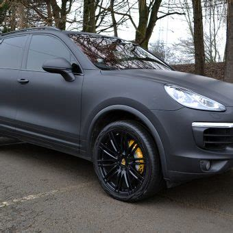 porsche cayenne matte porsche cayenne wrapped in matte black reforma uk